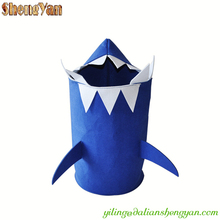 Folding Kids Shark Felt Laundry Basket