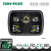 wholesale price square 5x7 hi/lo beam LED headlight 7X6 rectangle 2000lm jeep Cherokee headlight