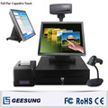 15 Inch Touch Ture Flat Complete Pos Systems/Pos Cash Register Machine