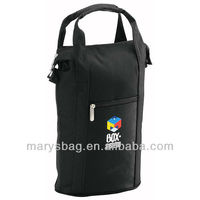 2 Bottle Insulated Polyester Wine Cooler Bag With A Custom Logo promote your brand