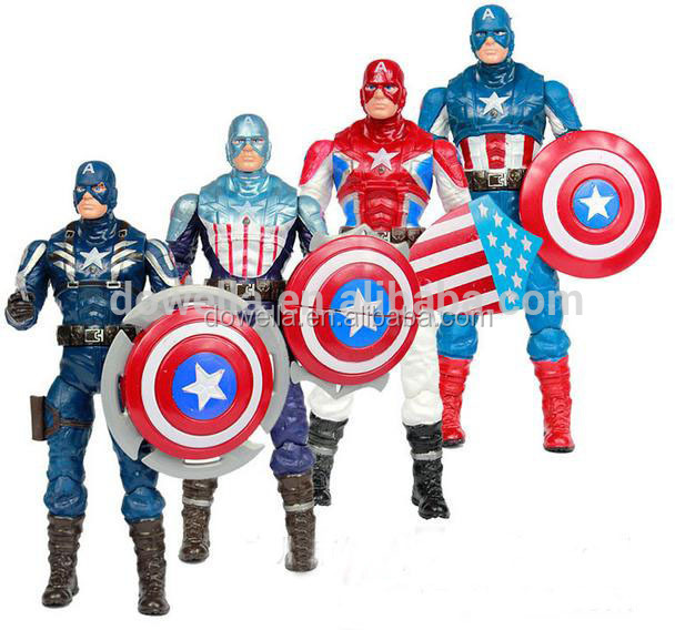 Custom made pvc boy figurine, captain America toys for kids, disny audited factory,action figure