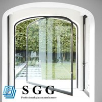 Safety tempered and laminated door glass