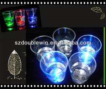 Led light liquid activated shot cup
