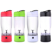 Mountop electric fruit crusher and juicer protein shaker bottle water cups with storage