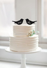 lettering We Do cake topper- New Arrival Romantic Love Birds black Acrylic Cake Toppers