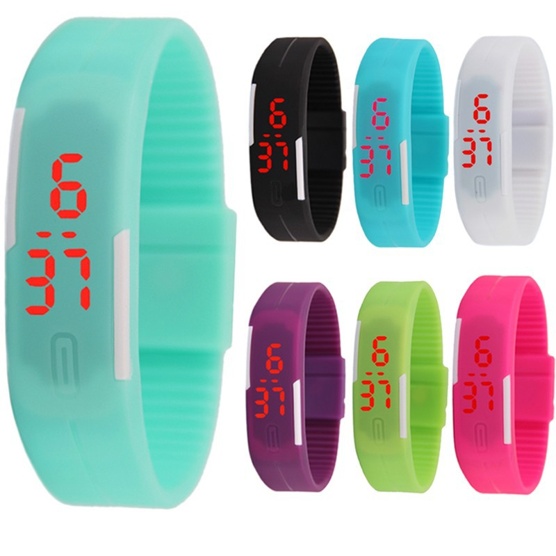 Fashion Sport LED Watches Candy Color Silicone Rubber Touch Screen Digital Watches,Bracelet Wristwatch