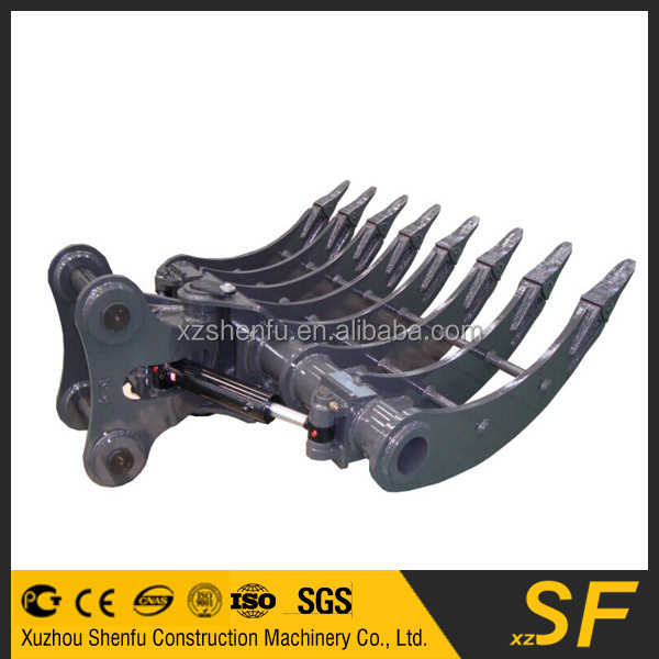 tilting root rake brush rake bucket for Volvo 240 excavator