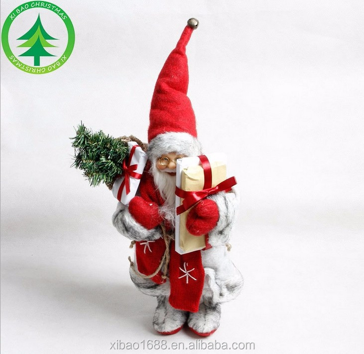 Wholesale 30cm High Quality Santa Claus ,Christmas customized ornaments