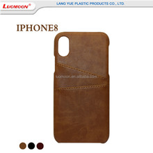 Factory direct sales leather mobile phone case for Iphone 8 8 Plus X credit card back cell phone case for iphone