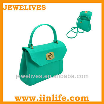 Cute silicone beach bag With detachable shoulder strap