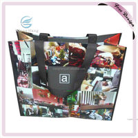Newest Design Full Color Lamination Custom Pictures Printing On Non Woven Shopping Bag