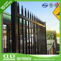 Metal Fence Pole / Wrot Iron Gate / Fencing In A Yard