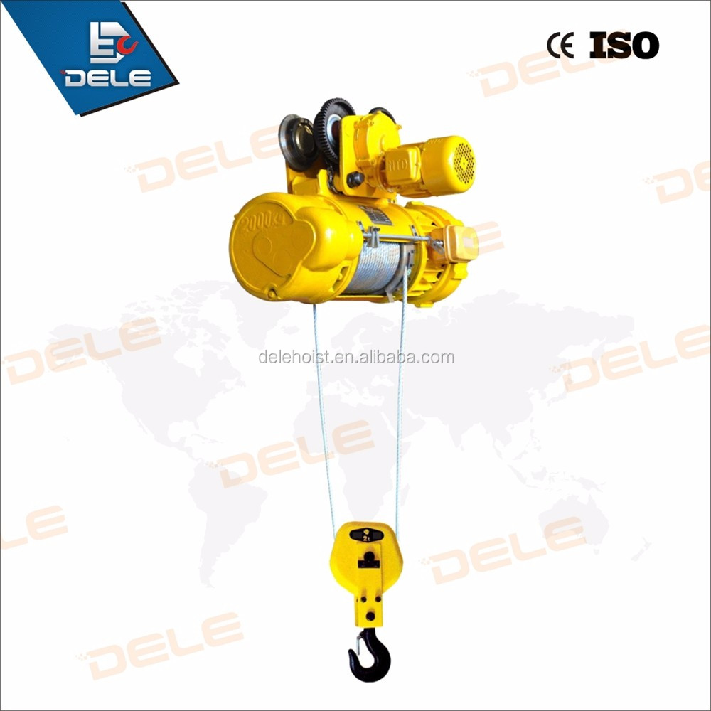 2ton lift equipment electric hoist winch with cable
