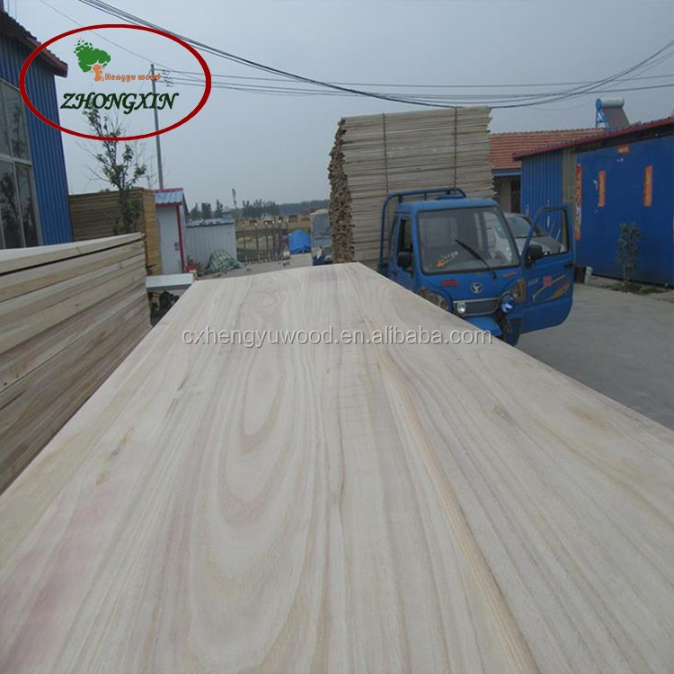 Smooth surface and cute texture paulownia wood jointed board on sale