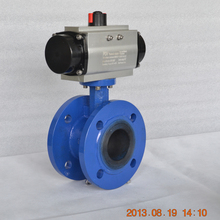 flanged type pneumatic operated butterfly valve by VITON sealing