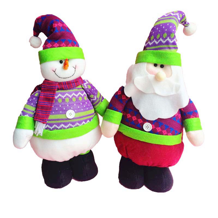 Soft Cute Fabric Reindeer Christmas Snowman Santa Claus Doll For Adults Gifts