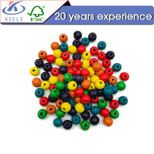 XL140 Popular among childen DIY engraved printed wooden beads
