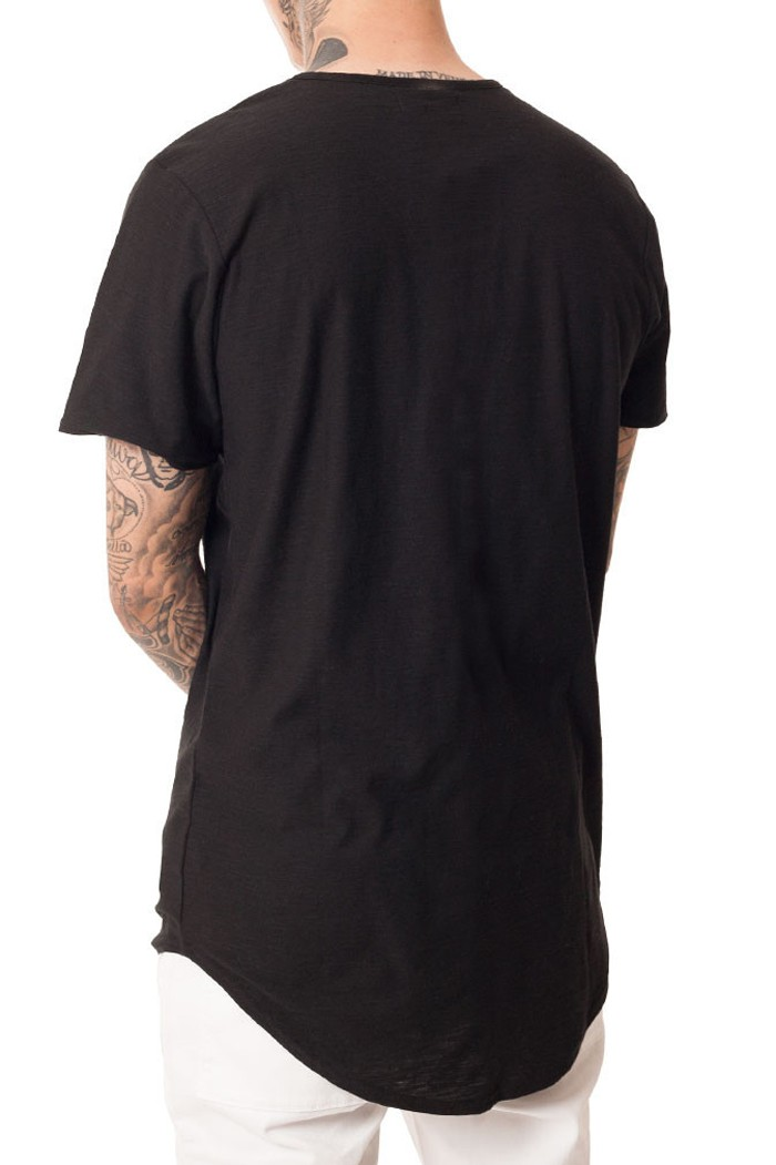 China wholesale fashion style scoop bottom t shirts for man