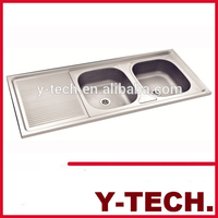 Common used kitchen items about double bowls sink stainless steel sink YK1250E