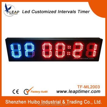 Red and green sports digital timer