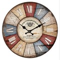 Old Looking Antique Wall Wood Clock for Home Decoration