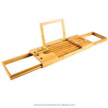 newest design bamboo bathroom shower caddy tray