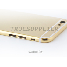 24k Gold/Diamond shiny mirror finish housing for Apple iPhone 5 5s 5c 6 (luxury replacement cell phone housings)