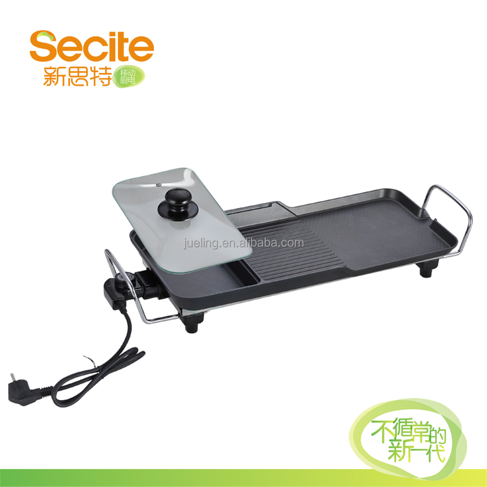 Secite Steamboat Electric BBQ Grill With Water Tray