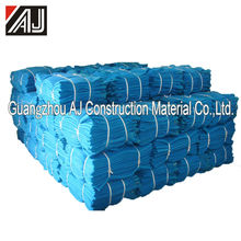 Debris falling protection scaffold safety netting blue with buttonhole