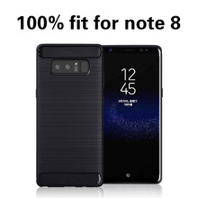 High quality shockproof soft silicone carbon fiber cell phone cover case for samsung galaxy note 8