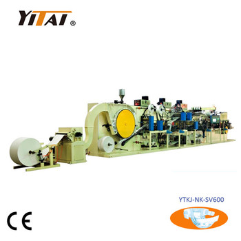 2017 New Full Servo Disposable Baby Diaper Making Machine Price, T&I Shape Baby diaper production line with CE Certificate