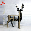 Wooden Deer Shaped Bookshelf Animated Reindeer Decoration