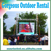Sunrise video wall LED display screen/indoor or outdoor rental stage background/TV studio/Flexible/curved/P6/5/4/3
