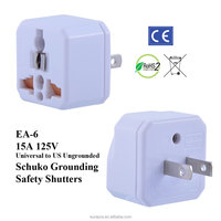 US Ungrounded Universal Travel Adapter With
