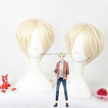 High Quality The Animation Satsuki Ao Cosplay Wig 30cm Short Beige Synthetic Anime Wig Heat Resistant Fibre Hair