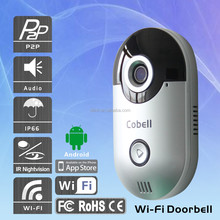 Shenzhen Direct supply 720P HD wireless Video doorbell camera , onvif Wifi mini wifi doorbell camera