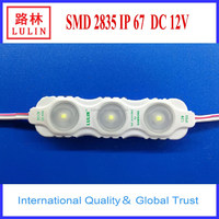 Epistar smd 2835 chips for channel letter advertising led module with lens and injection molding