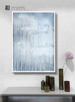 Hand painted water Abstract oil painting for living room made by famous artists