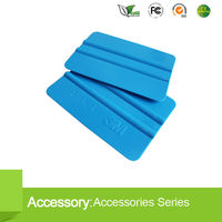 Flexible rubber plastic squeegee with soft material