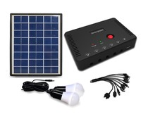 Energy saving high power 4w portable mini solar system with mobile charger and usb output