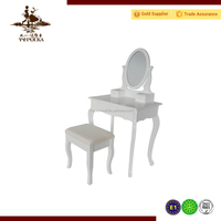 Hot sale furniture mirrored wooden dressing table with stool