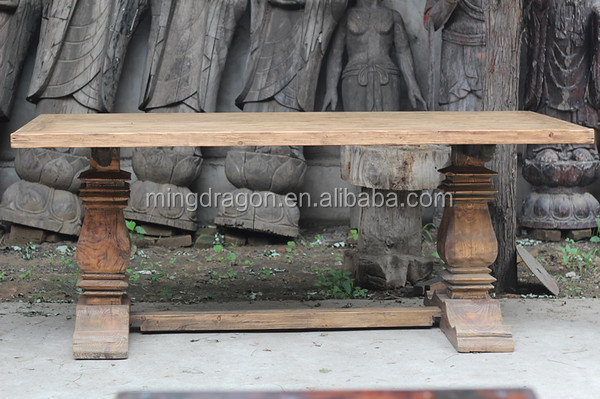 CHinese recycle wood reclaimed dinning table