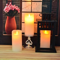 romantic atmosphere bar flameless moving wick led candle