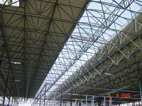 Large span high quality Red Dragon shopping mall super market steel space frame roof systems building in Romania