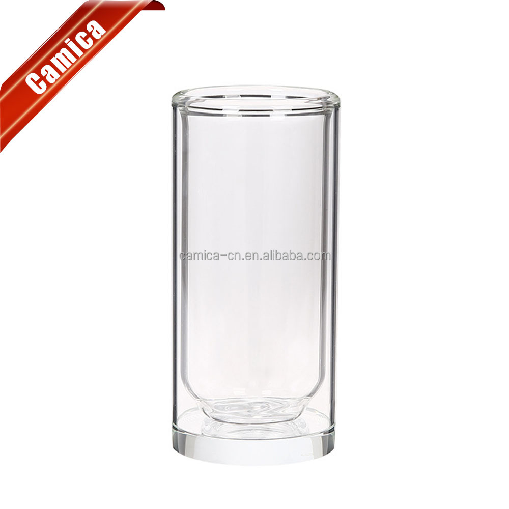 Custom drinking glass high quality and best price personalized glasses double wall