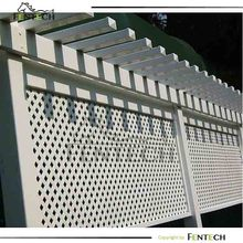 Traditional hot sale high quality Pvc/Plastic/Vinyl lattice privacy fence
