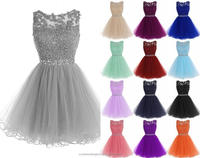 Appliques Ruffles Tiered Hollow Short Prom Dress Ball Gown Mini Homecoming Real photosParty Gowns Cocktail Dresses CWFc2457