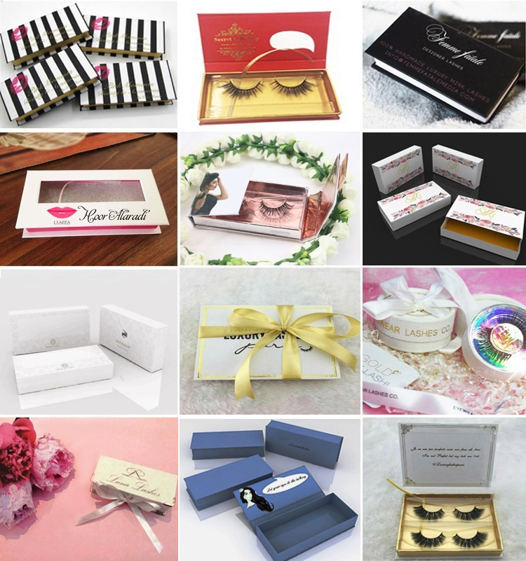 100% Premier human hair lashes best selling false eyelashes with customized packaging
