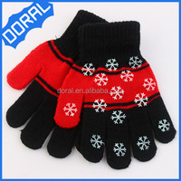 2014 Fashion acrylic knitted custom magic neon gloves