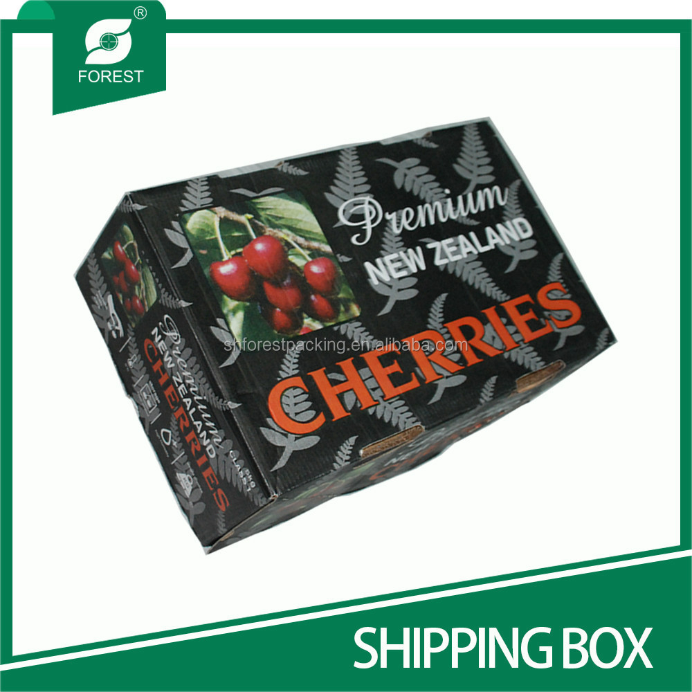 WAX-COATED CORRUGATED SHIPPING BOX FOR MOVING FRESH VEGETABLE AND FRUITS